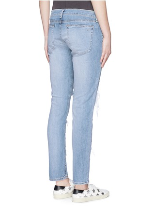 Back View - Click To Enlarge - rag & bone/JEAN - 'The Dre' ripped slim boyfriend jeans