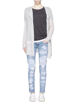 模特儿示范图 - 点击放大 - RAG & BONE/JEAN - THE DRE水洗磨破牛仔裤