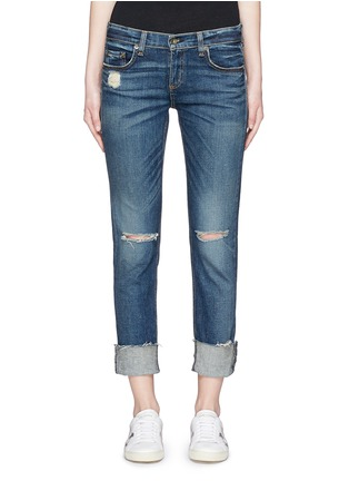 Detail View - Click To Enlarge - rag & bone/JEAN - 'The Dre' distressed slim boyfriend jeans