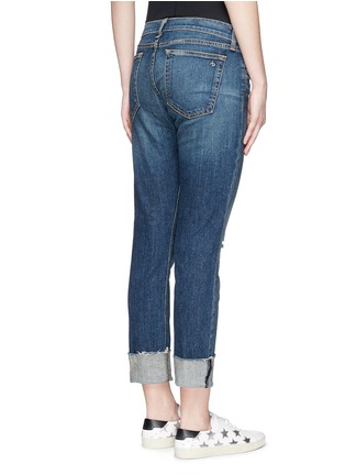 Back View - Click To Enlarge - rag & bone/JEAN - 'The Dre' distressed slim boyfriend jeans