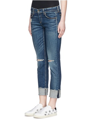 Front View - Click To Enlarge - rag & bone/JEAN - 'The Dre' distressed slim boyfriend jeans