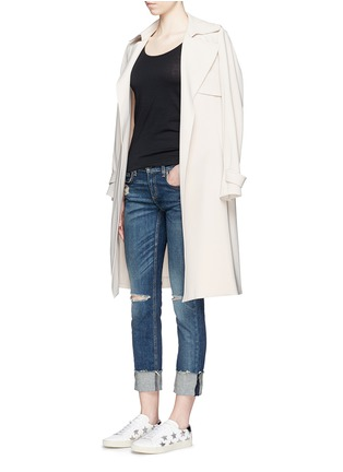 Figure View - Click To Enlarge - rag & bone/JEAN - 'The Dre' distressed slim boyfriend jeans