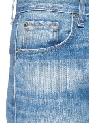 细节 - 点击放大 - RAG & BONE/JEAN - 水洗磨破八分牛仔裤