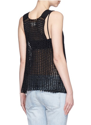 Back View - Click To Enlarge - Simon Miller - 'Nez' silk open knit tank top