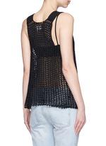 'Nez' silk open knit tank top