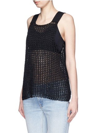 Front View - Click To Enlarge - Simon Miller - 'Nez' silk open knit tank top