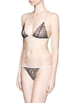 'Ingenue' Leavers lace soft triangle bra