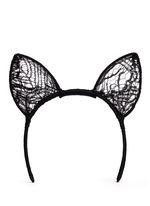 'Enchante Cat Ear' Chantilly lace headpiece