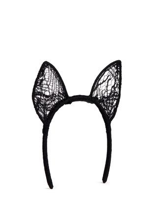 Figure View - Click To Enlarge - Kiki De Montparnasse - 'Enchante Cat Ear' Chantilly lace headpiece