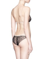 'Ingenue' silk trim Leavers lace panty