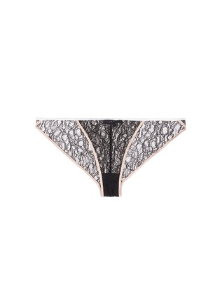 Main View - Click To Enlarge - Kiki De Montparnasse - 'Ingenue' silk trim Leavers lace panty
