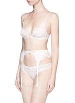 'Coquette' lace silk chiffon garter belt