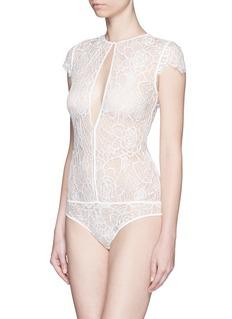 KIKI DE MONTPARNASSE'Coquette' lace bodysuit