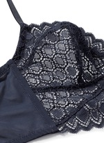 'Miel' lace tulle longline bralette
