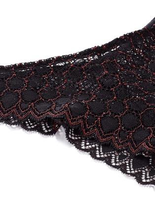 Detail View - Click To Enlarge - Kiki De Montparnasse - 'Miel' stretch lace panty