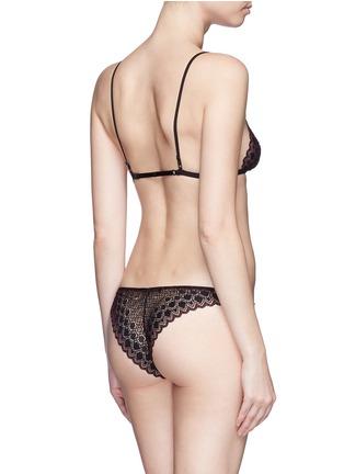Back View - Click To Enlarge - Kiki De Montparnasse - 'Miel' stretch lace panty