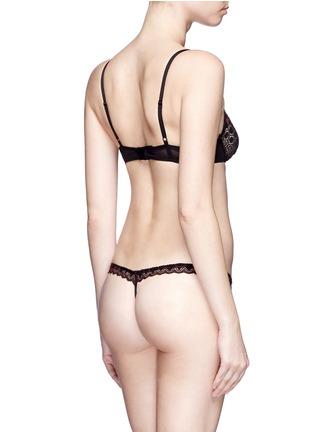 Back View - Click To Enlarge - Kiki De Montparnasse - 'Miel' stretch lace thong