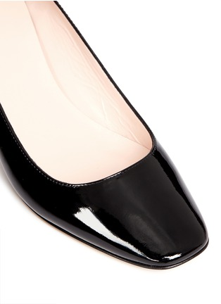 Detail View - Click To Enlarge - Kate Spade - 'Dawson Too' faceted heel patent leather pumps