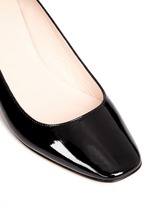 'Dawson Too' faceted heel patent leather pumps