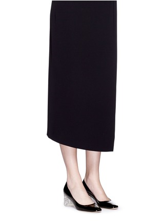 Figure View - Click To Enlarge - Kate Spade - 'Dawson Too' faceted heel patent leather pumps