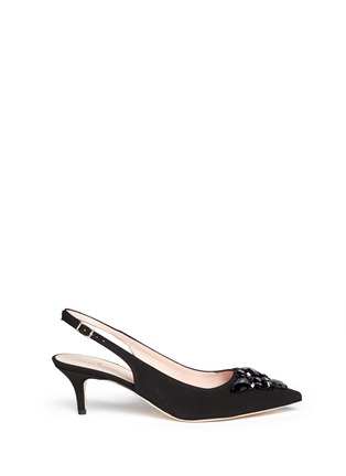 Main View - Click To Enlarge - Kate Spade - 'Marina Too' jewel kitten heel slingback pumps