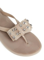 Francy' strass bow jelly thong sandals