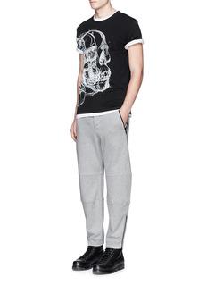 Alexander McQueenZip cuff organic cotton sweatpants