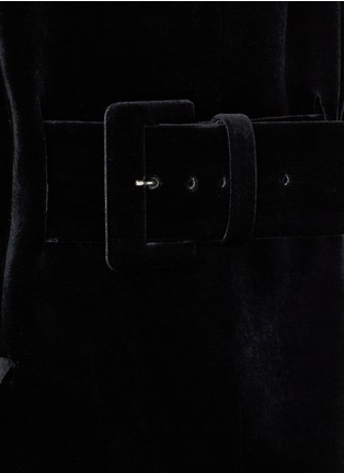 Detail View - Click To Enlarge - TOGA ARCHIVES - Chainmail bead bonded velvet coat