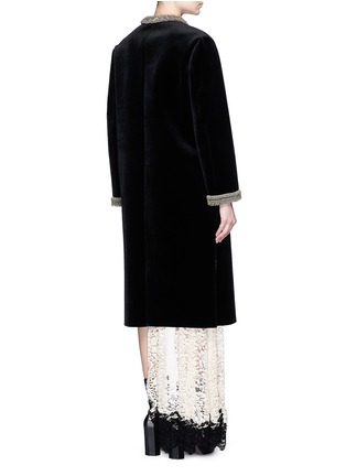 Back View - Click To Enlarge - TOGA ARCHIVES - Chainmail bead bonded velvet coat