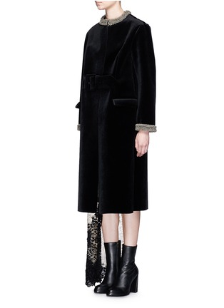 Front View - Click To Enlarge - TOGA ARCHIVES - Chainmail bead bonded velvet coat