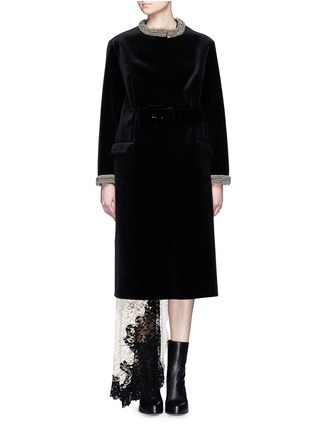 Main View - Click To Enlarge - TOGA ARCHIVES - Chainmail bead bonded velvet coat