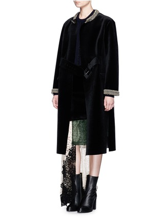 Figure View - Click To Enlarge - TOGA ARCHIVES - Chainmail bead bonded velvet coat