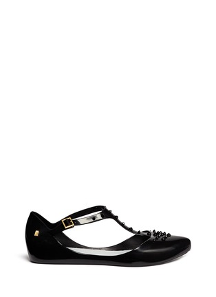 Main View - Click To Enlarge - Melissa - x Jason Wu ' Doris' stud T-strap flats