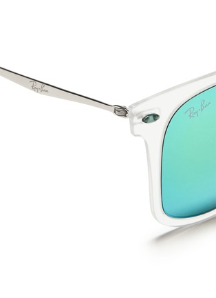 Detail View - Click To Enlarge - Ray-Ban - 'Wayfarer Light Ray' matte acetate mirror sunglasses