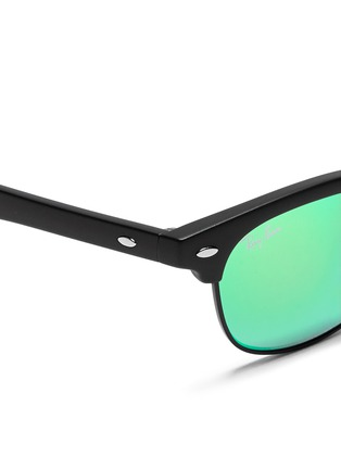 Detail View - Click To Enlarge - Ray-Ban - 'Clubmaster Junior' browline mirror sunglasses