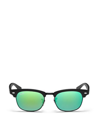 Main View - Click To Enlarge - Ray-Ban - 'Clubmaster Junior' browline mirror sunglasses
