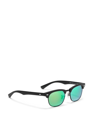 Figure View - Click To Enlarge - Ray-Ban - 'Clubmaster Junior' browline mirror sunglasses