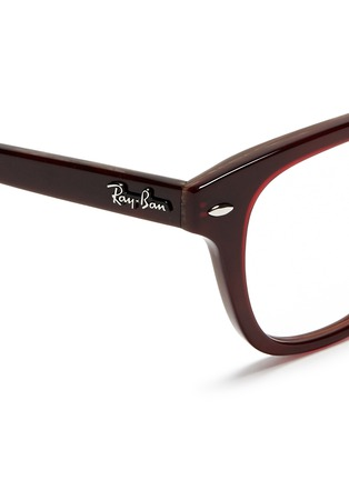 Detail View - Click To Enlarge - Ray-Ban - Square frame acetate optical glasses