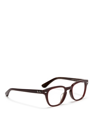 Figure View - Click To Enlarge - Ray-Ban - Square frame acetate optical glasses