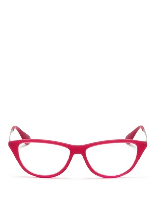 Main View - Click To Enlarge - Ray-Ban - Rubber acetate cat eye optical glasses