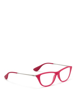 Figure View - Click To Enlarge - Ray-Ban - Rubber acetate cat eye optical glasses