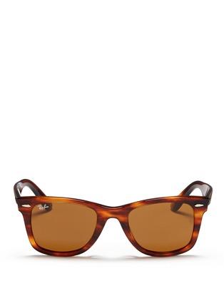 Main View - Click To Enlarge - Ray-Ban - 'Original Wayfarer' tortoiseshell acetate sunglasses