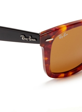 Detail View - Click To Enlarge - Ray-Ban - 'Original Wayfarer' tortoiseshell colourblock acetate sunglasses