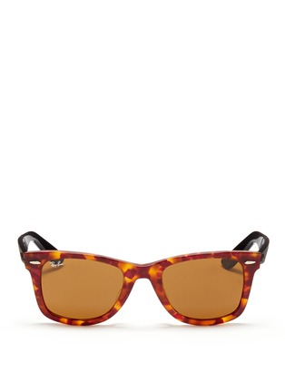 Main View - Click To Enlarge - Ray-Ban - 'Original Wayfarer' tortoiseshell colourblock acetate sunglasses