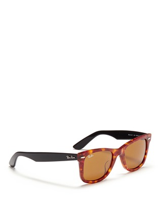 Figure View - Click To Enlarge - Ray-Ban - 'Original Wayfarer' tortoiseshell colourblock acetate sunglasses