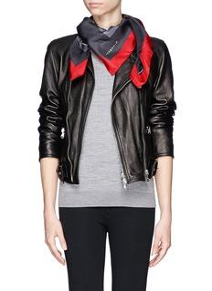 GIVENCHYBambi print silk twill scarf