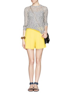 ALICE + OLIVIA High-waist pleat shorts