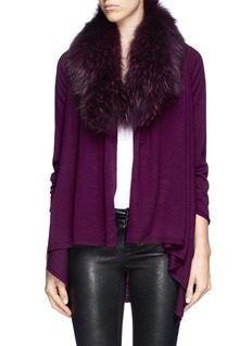 ALICE + OLIVIA 'Izzy' raccoon fur collar cardigan