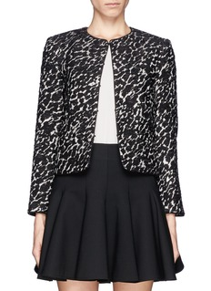 ALICE + OLIVIA 'Kidman' lurex tweed box jacket