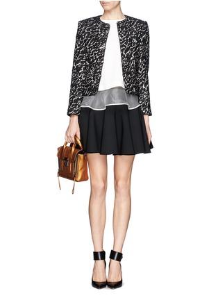 Figure View - Click To Enlarge - alice + olivia - 'Kidman' lurex tweed box jacket